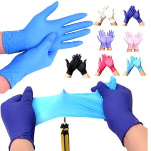 Stock Disposable Latex Gloves Anti-slip Acid-fast Kitchen Washing Gloves Catering Protection Glove Food Grade 1 Material Extraction Box Pack