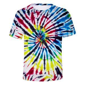 2020 Hot Men's Summer New Fashion Tie-dye Digital Harajuku Summer Top Korean Hipster Print 3d Short Sleeve T-shirt3.13