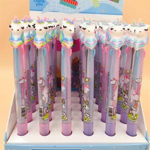 Sevimli Unicorn Tükenmez Kalem Çok Renkli Silicome Başkanı Tükenmez Kalem Çocuk Yenilik Öğe Ev Sıcak Sale1 5LF E1 Malzemeleri