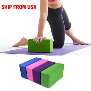 ABD Stok Sıcak Satış 10PCs Pratik Spor Salonu Spor Aracı Yoga Blok Tuğla Köpük Köpük Ev Egzersiz Yeni