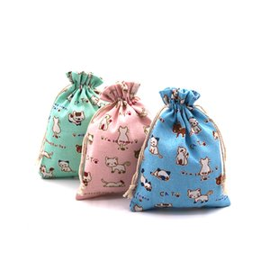 Free shipping The New Drawstring lovely china kitten toy Cotton bag accessories Sachet Sachet toy Snacks Storage bag Jewelry bag