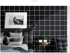 2020 HOT Wallpaper self-adhesive bedroom warm simple modern lattice wall stickers dormitory table wall waterproof pvc renovation stickers
