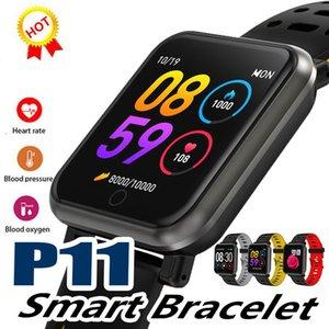 JMPOZ P11 Smart Watch Orologio sportivo da uomo a colori Schermo frequenza cardiaca Pressione sanguigna Multifunzione IP68 Impermeabile Multilingue