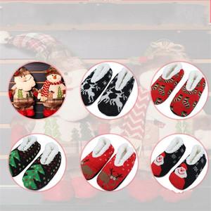 Karikatür Noel Terlik Çorap Örme Kalınlaşmış Peluş Yoga Ayakkabı Noel Baba Geyik 6 Noel Indoor7 Of Kadınlar Kış Kat Sock 5JD E1 Tasarımları
