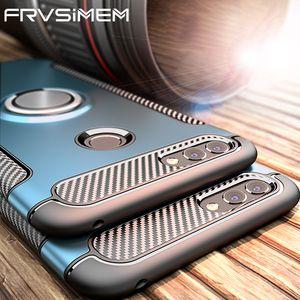360 Ring Holder Phone Case For huawei nova 2 2s 2i plus 3e Nova2 Nova2s Nova2i Magnetic Car Stand TPU Silicone Cover