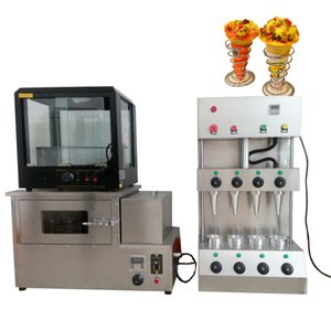 New design pizza cone machine stainless steel sweet cone pizza oven handheld pizza cone maker with display cabinet