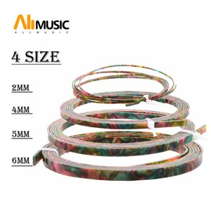 Cool Guitar Parts Celluloid Guitar Binding Body project Purfling Strip 1650x 6 5 4 2 x1.5mm Colorful Pearl