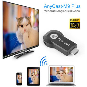 M9 Plus Wireless Wifi Display Dongle Receiver Anycast RK3036 Dual Core 1080P HD TV Stick Work With Google Home and Chrome Youtube Netflix