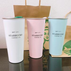 2019 черный цвет Starbucks нержавеющая сталь Кружка цвета конфеты INS Desktop Mug Coffee Cup Мода Пара 300мл Кружка