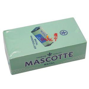 2017 70 Mm Mascotte Handroller Manual Metal Tobacco Cigarette Rollbox Rolling Machine Roller Box Tin Roll Ups Extra Slim smoking Maker
