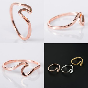 Fashion Wave Ring Wedding Rings For Women Beach Sea Surfer Island Jewelry Engagement Ring Women Wedding Dress Party Band Rings Jewelry