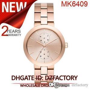 Drop shipping New MK6407 MK6408 MK6409 MK6410 femmes Garner Bracelet en acier inoxydable 39mm Montre