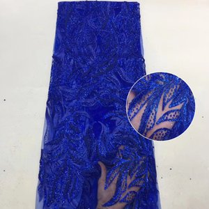 Vestido Lentejuelas africana del cordón de la tela neta del 2020 de la alta calidad del bordado del cordón francés del acoplamiento tela de encaje para el partido de Nigeria