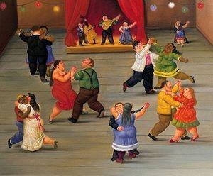 Danzatori FERNANDO BOTERO qualità dipinta a mano alta / HD Stampa classica del ritratto della pittura a olio su tela di canapa Multi opzioni di formati fr018