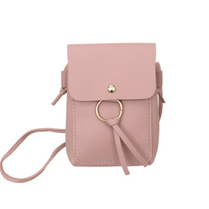 Pop2019 Single Women's Pu Pu Vertical Section Cover Tipo Small Square Package Mini-Solid Color