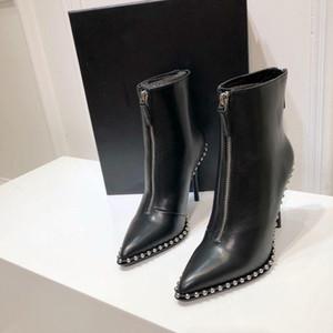 Nuovo arrivo Short Womens Boots Classic tacco alto in pelle alla caviglia Calzari inverno delle signore Boots 111701