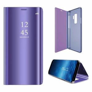 Elektrolizle Ayna Folyo Cüzdan Kılıf iPhone 12 11 Pro Max 6 X Xr Xs Max 7 Artı 8plus Galaxy J4 J6 J4 + J6 + Akıllı Kılıf Kapak çevirin