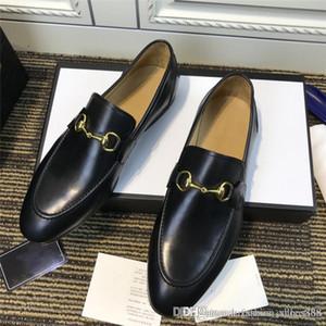 Haute peau de veau noir de production de qualité avec semelle extérieure en simili cuir abricot bétail chaussures d'affaires, un ensemble complet de boîte à chaussures