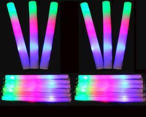 Illumina Sticks Schiuma Glowing Wand Baton LED lampeggiante Stobe bastone per il partito Concerto Evento Compleanno Matrimonio Dare favori away