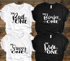 Best Friend Bad Boujee Sassy Wild Women Tshirt Cotton Casual Funny T Shirt Gift 90S Lady Yong Girl High Quality Drop S