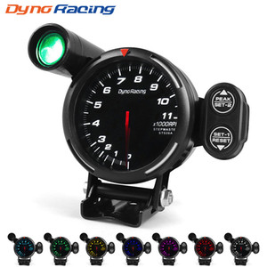 Dynoracing 80 MM Takometre RPM Ölçer Yüksek Hızlı step motor 7 Renkler Vites Işık ve Tepe uyarısı Ile 0-11000 RPM Metre