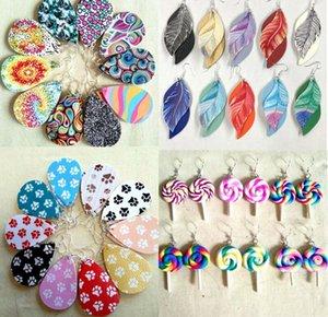 cuoio di scintillio regalo di elaborazione di stile di Natale scintillante orecchini ovale modo ciondola orecchini per le donne