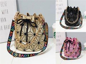 Bolso de hombro Box 2020 Nueva Marca diseñador de moda de la tela escocesa de Crossbody de la bolsa de mensajero de la cadena rombo cuadrado pequeño bolso # 150