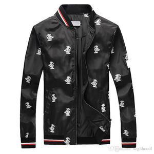Moderne Stylish Mens Designer Vestes Le Toucan Imprimé Veste De Luxe Multi-code Vendeur Chaud Youngth Noir Coupe-Vent