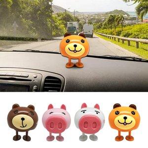 Car Shaking Head Doll Decorazione per auto Agitazione Head Doll Decorazione per suini Cartoon Animali Accessori Decompressione Artefatto