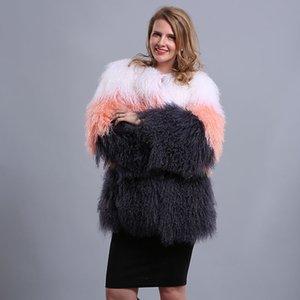 AU532 Sıcak Satış Özelleştirilmiş Renkler Coat Factory Uyarlanmi Boyutları Kış Kadın Koyun Coat
