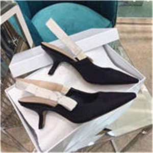 Original LogoFashion High heeled sandals Gladiator Leather Pointed shoes sexy Designer luxury heel High heeled shoes Letter woman shoes898