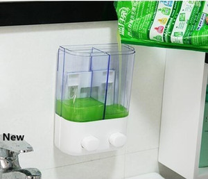 500ml 1000ML Shampoo Dispensers Wall-mounted Press Liquid Soap Dispenser Plastic Hand Washing Soap Bottle Sanitizer Dispenser Box GGA3474-3