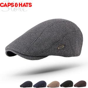 2019 пустой вязаный берет Bonnet Bere Casquette Femme Baret Hat женщины зимние шапки плоские шапки для мужчин художник французский шляпа