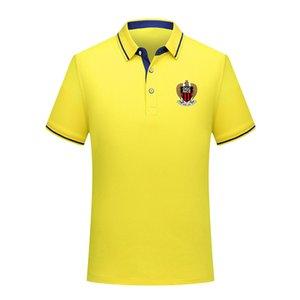 OGC Nice Erkek Polo Gömlek Yaz Erkek İş Casual Erkek spor Run Kısa Kollu Tişört eğitim Giyim Polos Erkek Polo Yaka Tops