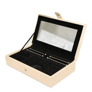 Nova caixa de armazenamento de alta qualidade jóias de couro PU Pandora charme anel grande anel pulseira colar caixa de armazenamento original