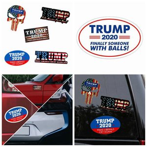 Nuevos Trump reflexiva del coche pegatinas hacer de Estados Unidos Gran nuevo presidente 2020 pegatinas de América Trump Donald Trump banner de coche etiqueta ZZA1170