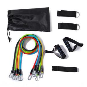 11 Paquet / set bandes de résistance Pull corde, Gym Fitness Equipment, Convient entraînement à domicile, étirements, Yoga / Pilates