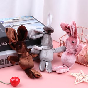 Plush Keychain Small Pendant Wishing Rabbit Bouquet Bunny Doll Eternal Flower Accessories Toy Accessories Children's Toys