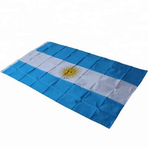 Argentinien-Flagge 3x5ft 150x90cm Druck Polyester-Staatsflagge Verein Sport Indoor Outdoor mit 2 Messing-Ösen, freies Verschiffen