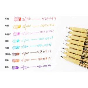 0,2 / 0,25 / 0,45 mm Fineliner Pen Künstlerische Skizze Zeichnung Liner Art Marker Fine Liner Pen Professioneller Büro-Schule Zu
