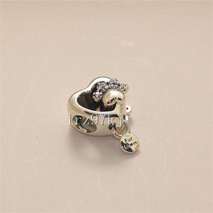 2020 Novo 925 Prata Sparkling cópia da pata Coração Bead charme com Zirconia Cubic único europeu, jóias Pandora pulseiras colares