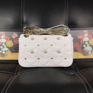 Bolso Marmont de decoración perla Bolsos de lujo de alta calidad Bolsos de diseñador de marcas famosas Cuero genuino de cuero original con CAJA