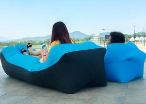 Lazy deporte inflable del aire del sofá plegable al aire libre Muebles Saco de dormir Water Beach Chair Sofá Sofá cama inflable de la nadada piscina flotadores A311