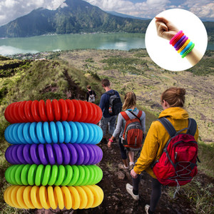EVA Mosquito Repllent Armband-Stretchable elastische Coil-Spirale Hand Handgelenk-Band-Telefon-Armband Camping Wandern Anti-Moskito-Armband A5905