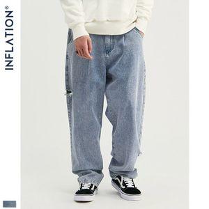 Junge Designer Jeans INF Herrenkleidung Tide Marke Hip Hop Gerbsäure Waschwasser Handgemachte Loch Gerade lose Tanzen Jeans für Großhandel New