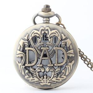 2020 Os melhores presentes Tone Steampunk relógios de quartzo Moda ouro pai relógio de bolso de relógio de homens Daddy Day Pai Dady Pai