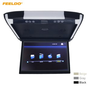 """FEELDO 3-Color Options 12.1"""" Car / Bus TFT LCD Roof Mounted Monitor Flip Down Monitor с HDMI/MP5/2-Way RCA Video Input #6223"""
