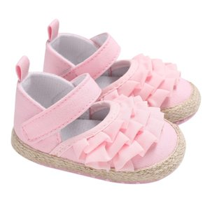 Baby Shoes Girl Newborn Lotus Leaf Fun Ear Toddler Shoes The First Walker New Baby Girl Soft Bottom Princess