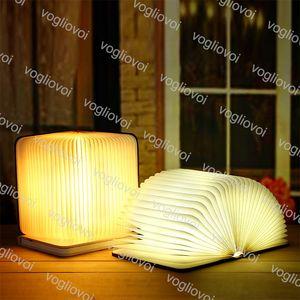 Livro luzes dobrável design criativo recarregável LED Nightlight Lâmpadas de Leitura de 360 graus Decoração de casa iluminação Epacket