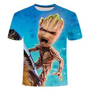 2020 Groot camisetas Tees Men PORG X Planeta monarca recompensa Guardiões do filme de The Galaxy Adorável FRESCO camisa engraçada